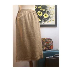 Vintage wool skirt with fringe